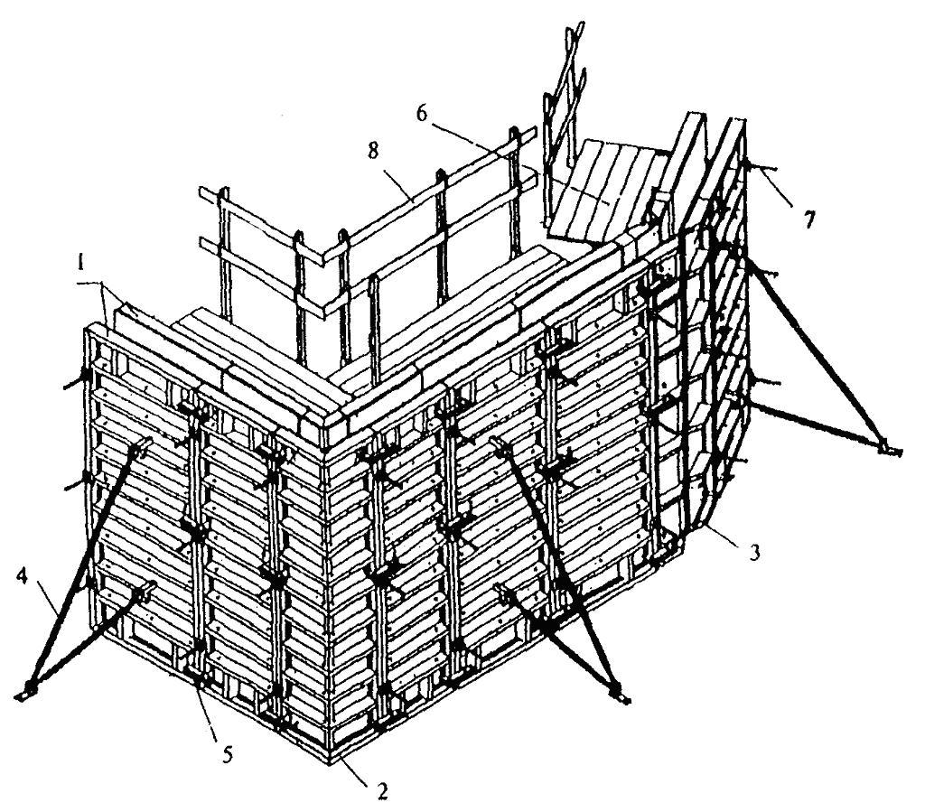 схема сборки опалубки контур