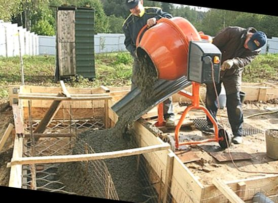 Заливка бетона вручную закладная для бетона купить