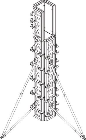 Опалубка колонн с круглым или